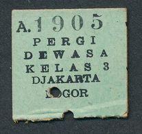 INDONESIA TC2 3rd Cl From Djakarta 21 MEI 8 - Railway