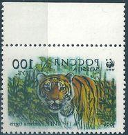 B1270 Russia Rossija Fauna Wild Animal Mammal Cat Of Prey Tiger ERROR (1 Stamp) - Errors & Oddities