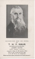T H F MAUR BRAIN SUR LES MARCHE 53 MAYENNE JOSEPH HUTIN FRERE CAPUCIN - Unclassified