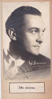 LEO PIETTE; CHARLES RICHARD. AUTOGRAPHE SIGNEE AUTHENTIQUE ORIGINAL.-BLEUP - Autographs