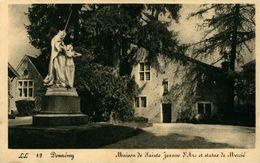 Jeanne D'Arc Maison De Jeanne-d'Arc Et Statue De Mercié DOMREMY - Femmes Célèbres