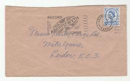 1965 Aberystwyth GB COVER SLOGAN Illus RECORD SUNSHINE ABERYSTWYTH Illus MUSIC RECORD LP Weather, Stamps - Music
