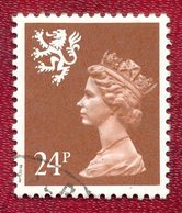 Great Britain GB Regional Scotland 1971 - 1993 24p Brown Machin Used - Regional Issues