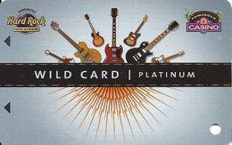 Seminole Hard Rock Casinos USA - BLANK Platinum Slot Card - Front Logos Top Corners - Casino Cards