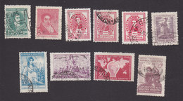 Argentina, Scott #544-545, 547-550, 552-553, 558-559, Used, People And Culture Of Argentina, Issued 1945-46 - Argentina