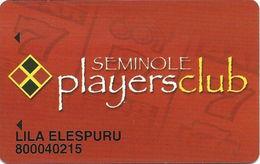 Seminole Hard Rock Casino - Coconut Creek, FL - Slot Card With LARGE Players Club - Casino Cards
