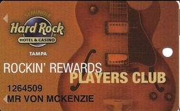 Seminole Hard Rock Casino - Tampa, FL - Slot Card - TYPE 3 (check Scans For Differences) - Casino Cards
