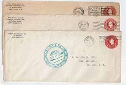 LFROU2 - 3 E P ENVELOPPES AYANT CIRCULE EN JUILLET / AOÛT 1928 - Entiers Postaux