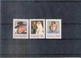 Maurice - Yv.557/59 - Lady Diana - XX/MNH - Maurice (1968-...)