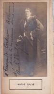 ANDRE BRULE; LUCIEN GUITRY. AUTOGRAPHE SIGNEE AUTHENTIQUE ORIGINAL.-BLEUP - Autographes