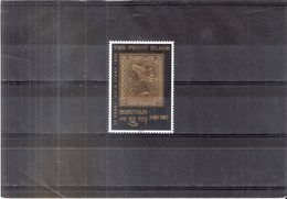 Bhoutan - Yv.1129 - The Penny Black - Gold Stamp - XX/MNH -(to See) - Bhoutan