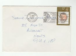 1980 GB COVER SLOGAN Illus CHICHESTER FESTIVAL THEATRE 1980 SEASON ,  Stamps Henry Wood Music - Theatre