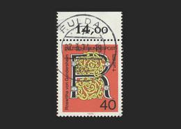 """BRD 1973, Michel-Nr. 770, 1000. Todestag Von Roswitha Von Gandersheim, Bogenrand Oben, Gestempelt """"FULDA"""" - Usados"""