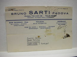PADOVA  --- BILANCE -STADERE  - PESI  . ATTREZZI PER MISURE --   BRUNO SARTI --TOLEDO BILICI - Padova (Padua)