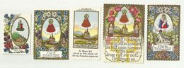 Jesus Holy Card Angel Maria Zell , 5 Card - Santini