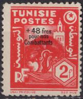 TUNISIE - Pour Les Combattants 1944 - Tunisie (1888-1955)