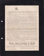 Au HAVRE Marie-Louise BELLON De CHASSY épouse Edmond BEGOUEN De MEAUX 66 Ans 1907 De MONT-SERRAT - Décès