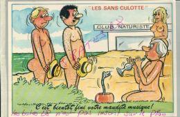 CP FANTAISIES- LES SANS CULOTTE-   CLUB NATURISTE  ILLUSTRATEUR NUE  NU Humouristique  AV 2018  001 - Humour