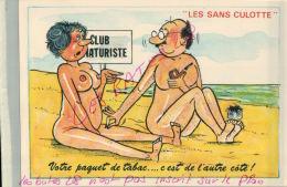 CP FANTAISIES- LES SANS CULOTTE-   CLUB NATURISTE  ILLUSTRATEUR NUE NU Humouristique  AV 2018  005 - Humour
