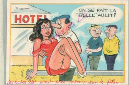 CP FANTAISIES- Serie BOULISTES-   LA BELLE  - ILLUSTRATEUR NUE  NU Humouristique  AV 2018  019 - Humor