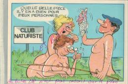 CP FANTAISIES  SERIE PÊCHE  Cub Naturiste    Belle Pièce   ..!   ILLUSTRATEUR NUE  NU Humouristique  AV 2018  047 - Humour