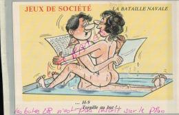 ILLUSTRATEURS  FANTAISIES,   JEUX DE SOCIETE .LA BATAILLE NAVALE .- ILLUSTRATEUR   Nue Nu Humouristique  AV 2018  077 - Humour