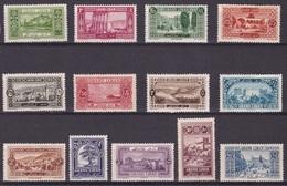 GRAND LIBAN Yv. 50-62* Neuf - LEBANON Premieres Vues - Great Lebanon (1924-1945)