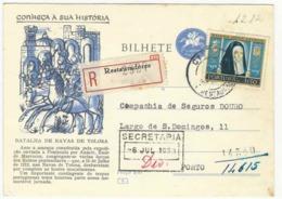 Postal Stationery * Portugal * 1959 * Restauradores * Registered * Taxa Adicional * Conheça A Sua História - Entiers Postaux