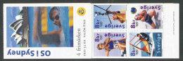 SUEDE 2000 - CARNET  YT C2165 - Facit H522 - Neuf ** MNH - Jeux Olympiques De Sydney - Carnets