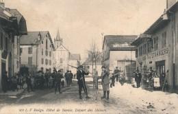 H99 - 74 - BOËGE - Haute-Savoie - Hôtel De Savoie - Départ Des Skieurs - Boëge