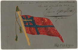 Hand Made Postcard Norway Flag . Cuban - Norvège