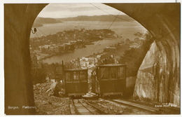 Real Photo Bergen Funicular Funiculaire - Norvège