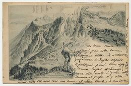 Alpen Kurhaus Gaflei Ob Vaduz Art Card Used 1899 - Liechtenstein