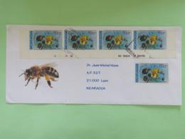 Nicaragua 2016 Cover Managua To Leon - Bees Pollinating Flower - Nicaragua