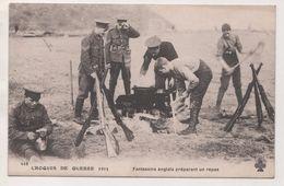 MILITARIA 1915 -  SOLDATS FANTASSINS ANGLAIS PREPARANT UN REPAS - BELLE ANIMATION - VOIR LE SCANNER - 1914-18