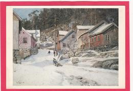 Modern Post Card Of Frits Thaulow,Gate I Kragero,1882,Nasjonalgalleriet,Oslo, Norway.,B27. - Norway