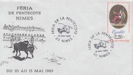 Enveloppe  FRANCE   Féria   De  La  Pentecôte   NIMES   1989 - Marcophilie (Lettres)