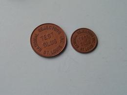 National Rejectors Inc. ST. LOUIS / TEST SLUG ( 2 Pcs. / 2 Size ) ( Zie Foto's ) ! - USA