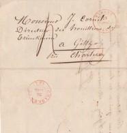LAC De DINANT 29 Juil 1847 Vers Gilly (houillères Du Trieu Kaisin)par Charleroy Port 4 - 1830-1849 (Belgique Indépendante)