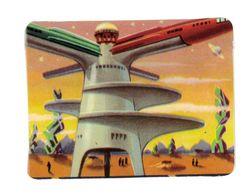 CHROMO IMAGE CHOCOLAT CANTALOUP CATALA TOUR D'AMARRAGE SUR MARS - Autres