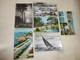 LOT DE SIX CARTES BASSIN D'ARCACHONREGATESCASINOMULTI VUES - Cartes Postales
