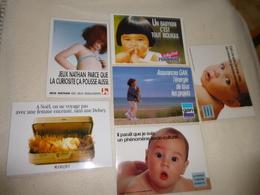 LOT DE SIX CARTES PUBLICITE...AVEC ENFANTS.. - Cartes Postales