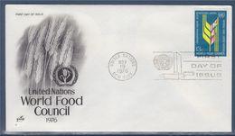= Conseil Mondial De L'alimentation New-York 19.11.76 N° 272 Epi Stylisé - FDC