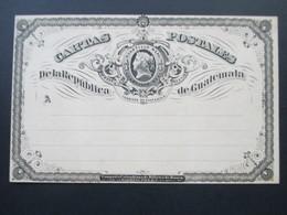 Guatemala Ganzsache. Gratis Beigabe Zu No. 1 Des XV. Jahrgangs 1888 Senf's Illustriertem Briefmarken Journal - Guatemala