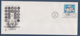 = Globe Et Colombe Portant Un Rameau D'olivier Nations-Unies New-York 8.01.69 Enveloppe Entier Postal - FDC