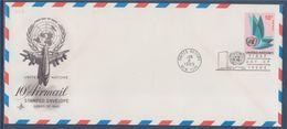 = Allégorie Des Nations-Unies Poste Aérienne New-York 8.1.69 Enveloppe Entier Postal Reprise Visuel Poste Aérienne N°9 - FDC