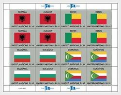 United Nations 2017 Sheetlets CTO - 2017 Flag Series (Sheet 52) - Centre International De Vienne