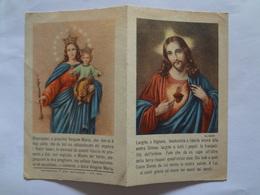 D876- Santino A Libretto Gesù E Vergine Maria Con Preghiera Di Papa Pio XII Per L'Anno Santo - Images Religieuses