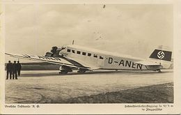 X117899 AVION AVIATION JUNKERS DEUTSCHE LUFTHANSA GCHNELLLVERFEHRSFLUGZEUG, JU 52/3 TANTE JU IRON ANNIE - 1919-1938
