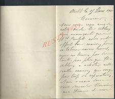 LETTRE DE 1911 ECRITE DE AULT FAMILLE E MAURY : - Manuscripten